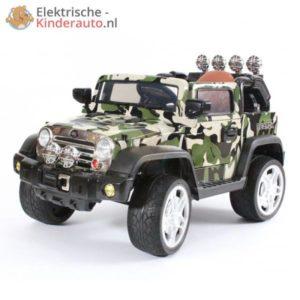 Jeep Kinderauto Camouflage Groen