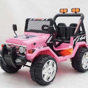 Elektrische kinderauto jeep raptor roze 1